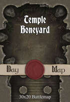 30x20 Battlemap - Temple Boneyard
