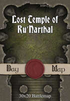 30x20 Battlemap - Lost Temple of Ru'Narthal