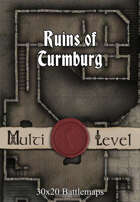 30x20 Multi-Level Battlemap - Ruins of Turmburg