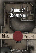 30x20 Multi-Level Battlemap - Ruins of Vohenheim