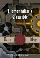 30x20 Battlemap - Elementalist's Crucible