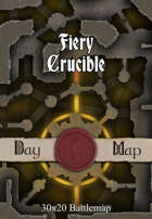30x20 Battlemap - Fiery Crucible