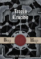 30x20 Battlemap - Frozen Crucible
