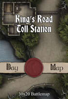 30x20 Battlemap - King's Road Toll Station