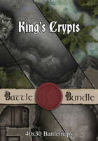 King's Crypts | 30x20 Battlemaps [BUNDLE]
