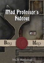 30x20 Multi-Level Battlemap - Mad Professor's Hideout