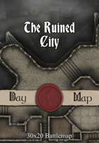 30x20 Multi-Level Battlemap - The Ruined City