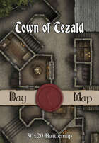 30x20 Multi-Level Battlemap - Town of Tezald