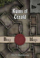 30x20 Multi-Level Battlemap - Ruins of Tezald