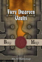 40x30 Battlemap - Fiery Dwarven Vaults
