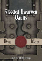 40x30 Battlemap - Flooded Dwarven Vaults