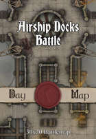 30x20 Battlemap - Airship Docks Battle