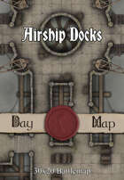 30x20 Battlemap - Airship Docks