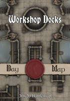 30x20 Battlemap - Workshop Docks
