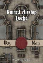 30x20 Battlemap - Ruined Airship Docks