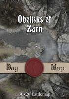 30x20 Battlemap - Obelisks of Zarn