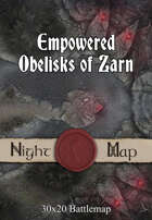 30x20 Battlemap - Empowered Obelisks of Zarn