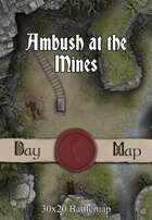 30x20 Battlemap - Ambush at the Mines
