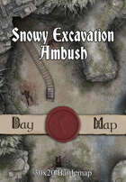 30x20 Battlemap - Snowy Excavation Ambush