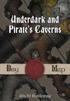 Underdark and Pirate's Caverns | 40x30 Battlemaps [BUNDLE]
