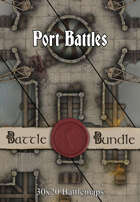 Port Battles | 30x20 Battlemaps [BUNDLE]