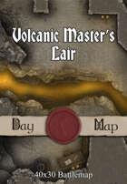 40x30 Battlemap - Volcanic Master's Lair