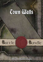 Town Walls | 30x20 Battlemaps [BUNDLE]