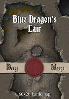60x20 Battlemap - Blue Dragon's Lair