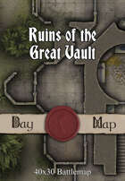 40x30 Battlemap - Ruins of the Great Vault