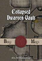 40x30 Battlemap - Collapsed Dwarven Vault