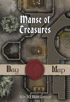 40x30 Battlemap - Manse of Treasures
