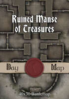 40x30 Battlemap - Ruined Manse of Treasures