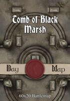 60x20 Battlemap - Tomb of Black Marsh