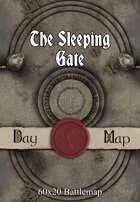60x20 Battlemap - The Sleeping Gate
