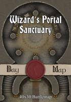 40x30 Battlemap - Wizard's Portal Sanctuary