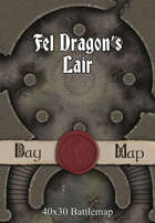 40x30 Battlemap - Fel Dragon's Lair