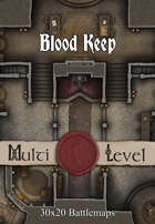 30x20 Multi-Level Battlemap - Blood Keep