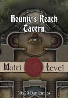 30x20 Multi-Level Battlemap - Bounty's Reach Tavern