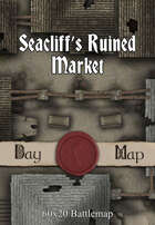 60x20 Battlemap - Seacliff's Ruined Market
