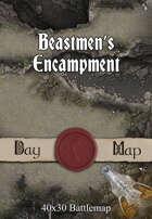 40x30 Battlemap - Beastmen's Encampment