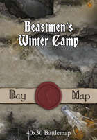 40x30 Battlemap - Beastmen's Winter Camp