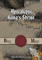 40x30 Battlemap - Apocalyptic Gang's Shrine