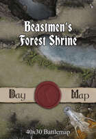 40x30 Battlemap - Beastmen's Forest Shrine