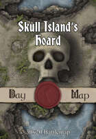 30x20 Multi-Level Battlemap - Skull Island's Hoard