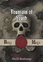 30x20 Multi-Level Battlemap - Fountain of Youth