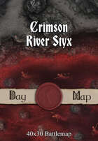 40x30 Battlemap - Crimson River Styx