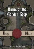 30x20 Battlemap - Ruins of the Garden Keep