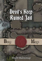 30x20 Battlemap - Devil's Keep Ruined Jail