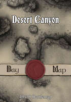 40x30 Battlemap - Desert Canyon