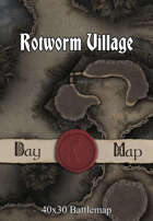 40x30 Battlemap - Rotworm Village